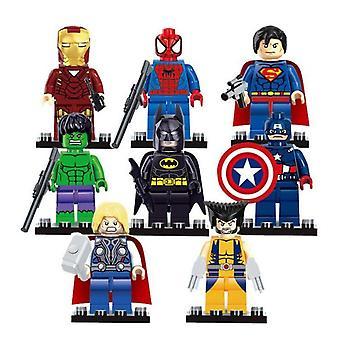 8 PCSマーベルアベンジャーズスーパーヒーローコミックミニフィギュアDcミニフィギュアギフトはレゴにフィット