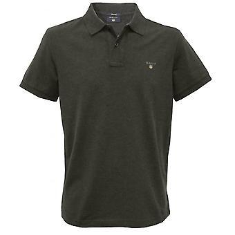 GANT Solid Pique Polo Shirt, Dark Antraciet Melange