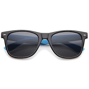 Corne de Temple classique rétro Neon deux tons couleur Rimmed lunettes de soleil 54mm