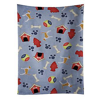 American Foxhound hund hus samling kökshandduk