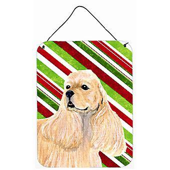 Cockerspanieli tikkukaramelli Holiday joulua läpäisemätön roikkuu tulostaa
