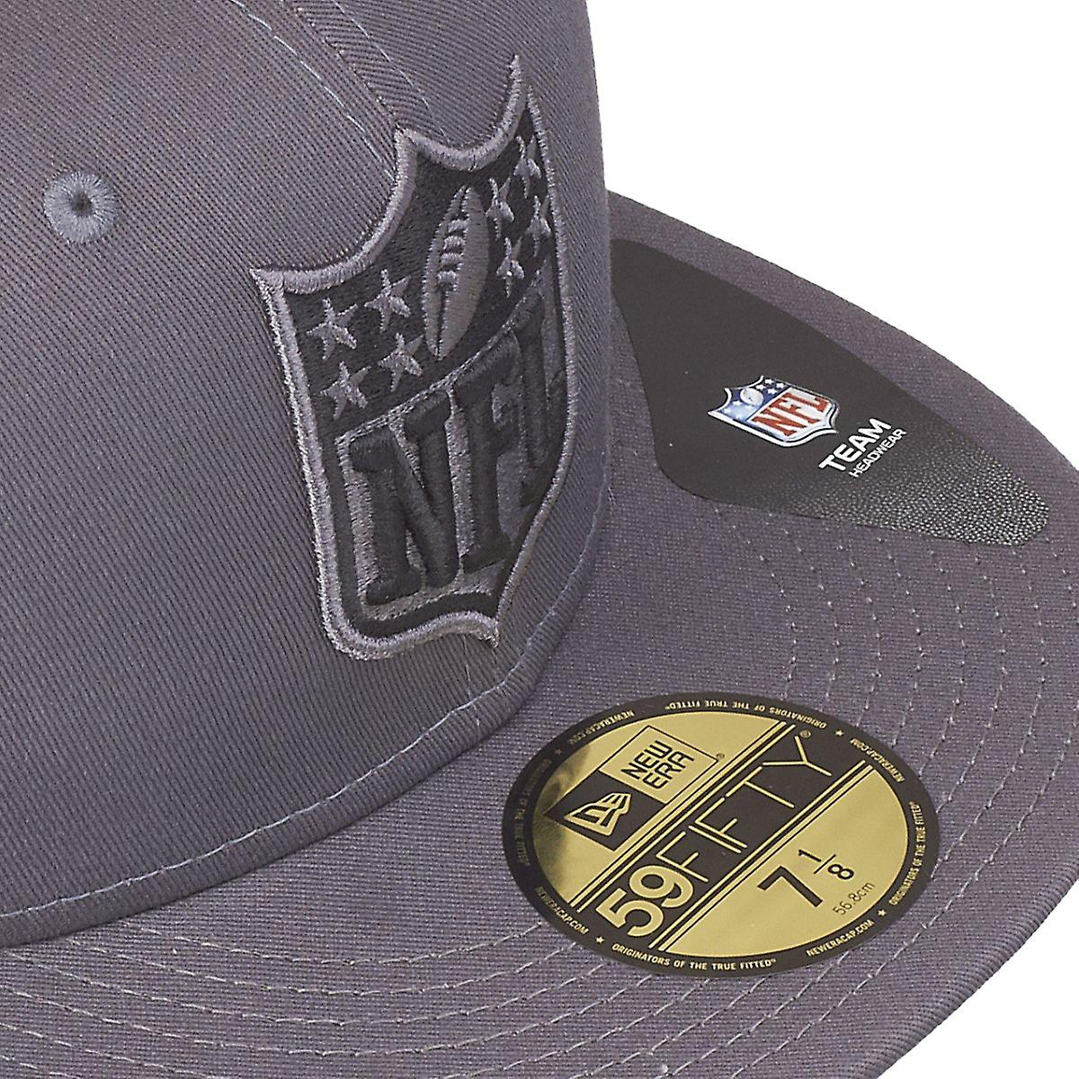 New Era 59Fifty Fitted Cap GRAPHITE NFL Logo grau