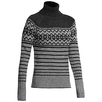 Icebreaker Aura LS Turtleneck - Black/Grey