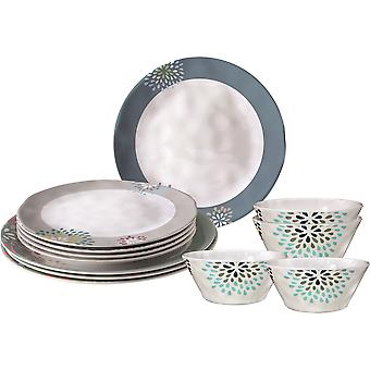 Brunner Belfiore Midday 12 Piece Plates And Bowls Dining Set