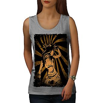 Spirale Girl Dance Musik Frauen GreyTank Top | Wellcoda