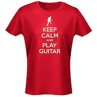 Hålla lugn och spela gitarr Womens T-Shirt 8 färger (8-20) av swagwear