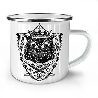 Owl King Knight Animal NEW WhiteTea Coffee Enamel Mug10 oz | Wellcoda