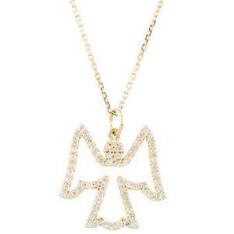 1 / 4ct Diamond Angel anheng 14K hvitt gull