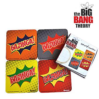 The Big Bang Theory Bazinga Coaster Set