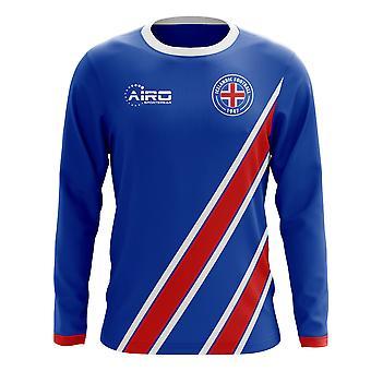 2020-2021 أيسلندا طويلة الأكمام المنزل مفهوم المنزل لكرة القدم قميص