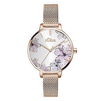relógio de pulso inox s.Oliver feminino SO-3524-MQ