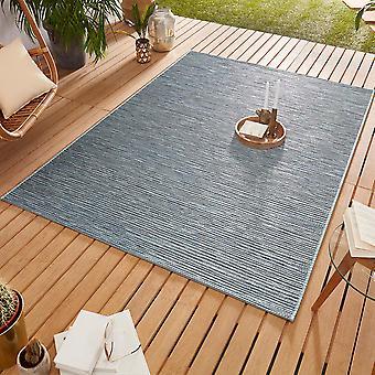 Conception Outdoorteppich Web tapis tissage plat | Ivy Ocean Blau
