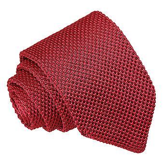 Borgogna a maglia cravatta Slim
