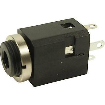 Cliff FC681374V 3.5 mm audiohefboom Socket, verticale verticale aantal pins: 3 Stereo zwart 1 PC('s)