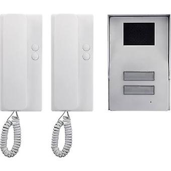 Basetech 1437489 Porta intersofale Corded Completo kit Semi-indipendente Argento, Bianco