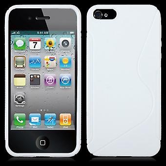 Beskyttende sag TPU sag til mobiltelefon Apple iPhone 5 / 5s Hvid