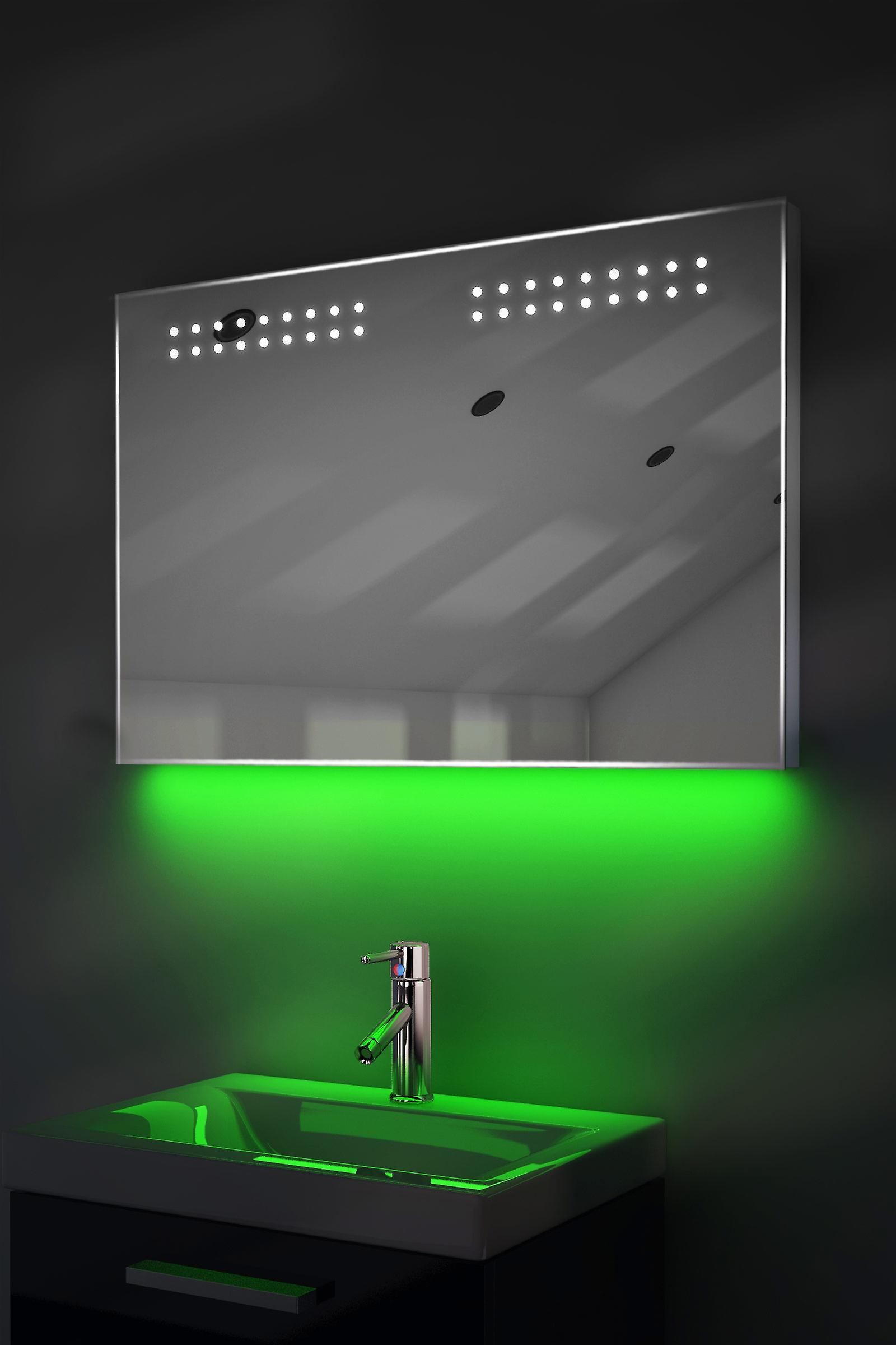 Auto Colour Change Rgb Ultra-Slim Mirror With Demister & Sensor K14Rgb