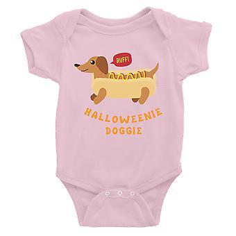 Halloweenie Doggie Baby Bodysuit Gift Pink