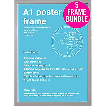GB plakater 5 en A1 plakat rammer 59.4 x 84.1cm bunt