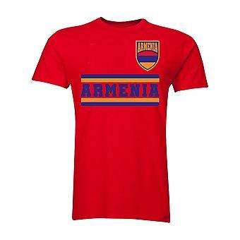 Armenia Core piłki nożnej kraju T-Shirt (czerwony)