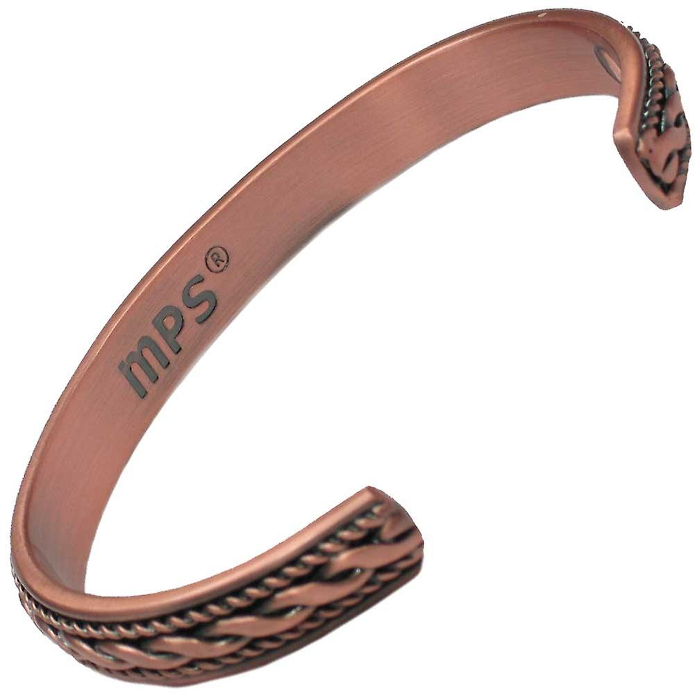 MPS® ROPES Pure Copper Magnetic Bangle with 6 Magnets with Luxury Gift Pouch