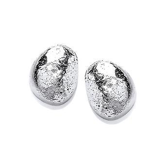 Кавендиш французский серебряные серьги галька