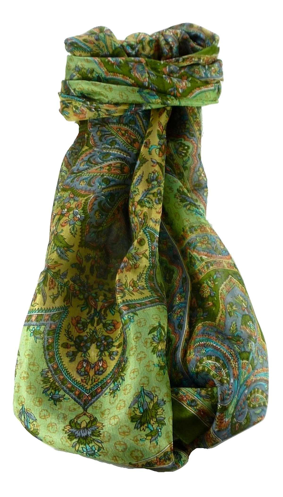 Mulberry Silk Traditional Long Scarf Cauver Sage by Pashmina & Silk