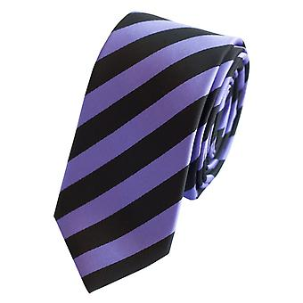 Schlips Krawatte Krawatten Binder 6cm schwarz lila gestreift Fabio Farini