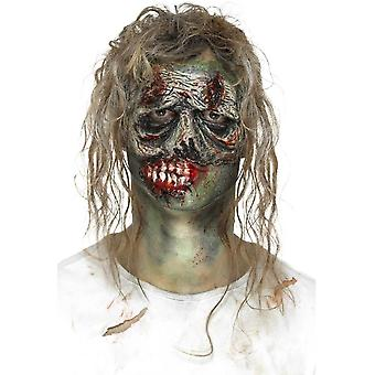 Pianka lateksowa Zombie oczu protetyczne, zielony, z klejem