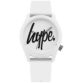 Hype | White Silicone Strap | White And Black Dial | HYU001W Watch