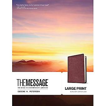 The Message Bible [Large Print Leather Look] [Large Print]