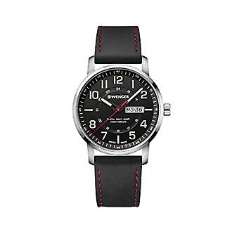 Wenger Mens Quartz Analog leather strap 01.1541.101