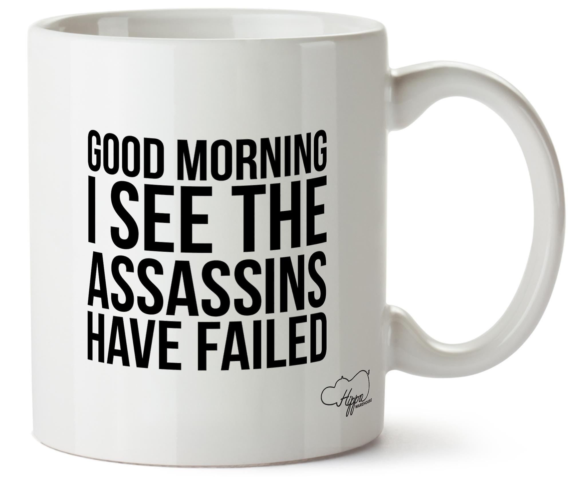 Добрый день я вижу, что убийцы не смогли 10 oz кружка подарок настоящему Кубок