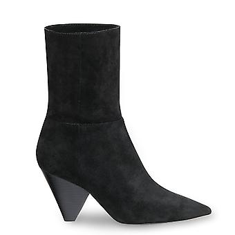 Ash DOLL Mid Calf Boots Black Suede