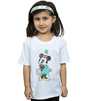 Disney Mädchen Minnie Mouse Shamrock Hut T-Shirt