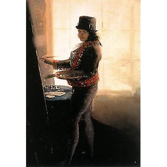 Self-portrait in the Studio,Francisco Goya,60x40cm