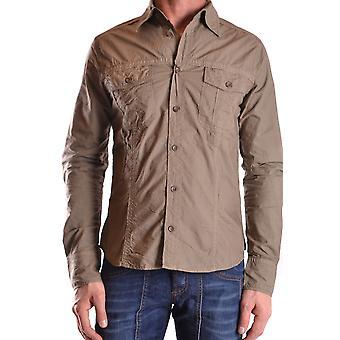 Gazzarrini Ezbc204006 Men's Green Cotton Shirt