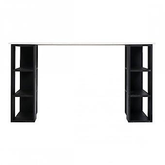 Rebecca mobilier Bureau Bureau bois blanc noir mobilier de maison