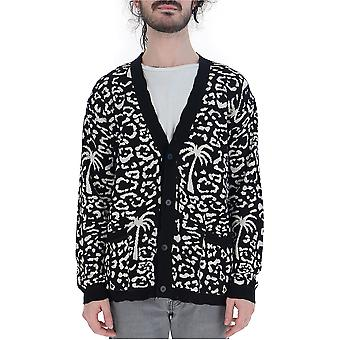 Laneus Cdu1400161 Men's White/black Cotton Cardigan