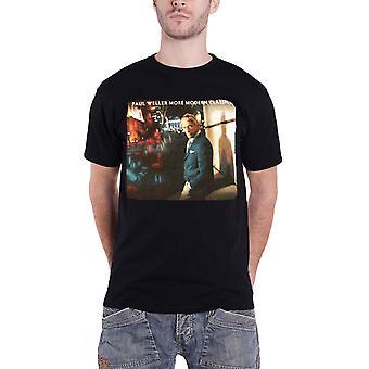 Paul Weller T Shirt More Modern Classics Photo Logo Official Mens New Black