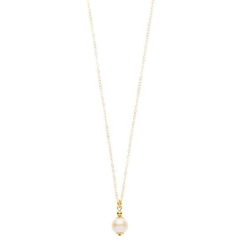 14kt Gold Filled Petite Single Pearl Pendant