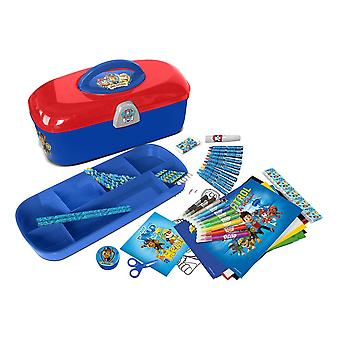 PAW PATROL Toolbox with 60 Piece Creative Stationery Set Blue (CPAW013)