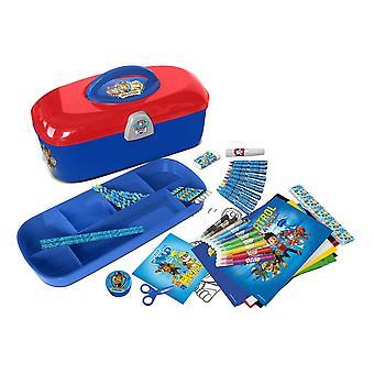 PAW PATROL caja de herramientas con 60 piezas juego de papelería creativa azul (CPAW013)
