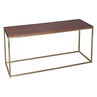 Gillmore Walnut And Gold Metal Contemporary TV Stand