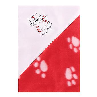 Christmas Shop Cute Cat/Dog Paw Print Pet Blanket (Pack of 2)