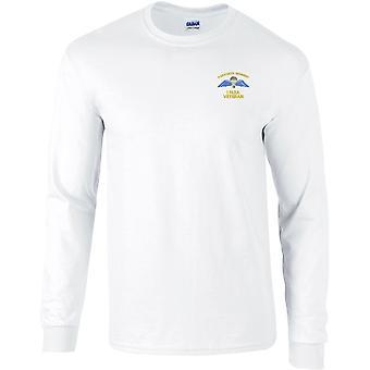1 PARA 1st Parachute Regiment Wings - Vétéran - T-shirt à manches longues brodé e brodé de l'armée britannique