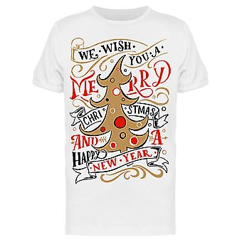Wish You Merry Christmas Holiday Tee Men's -Image by Shutterstock