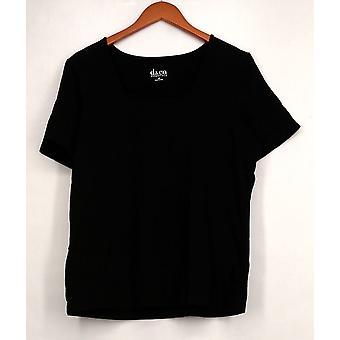 Denim et Cie Top Essentials Perfect Jersey Short Sleeve Black A200149