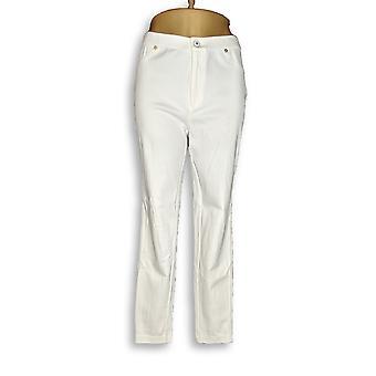 Isaac Mizrahi Live! Kvinner ' s jeans strikk denim ankel hvit A272903