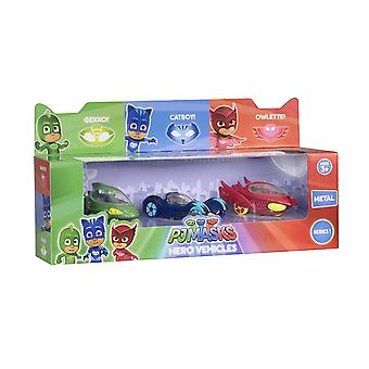 3-Pack PJ Masks the Pyjama heroes cars metal Gecko cat Boy & Ugglis